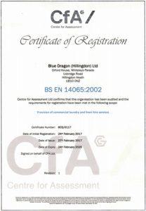Certificate EN14065
